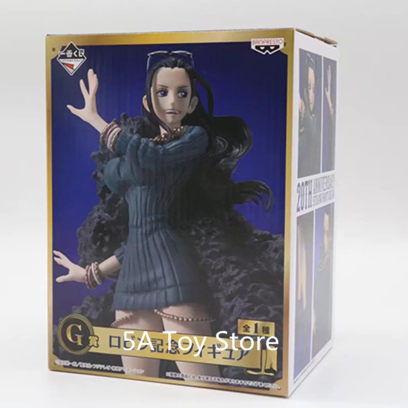 Anime <font><b>One</b></font> <font><b>Piece</b></font> <font><b>Ichiban</b></font> <font><b>Kuji</b></font> Nico Robin 20th Anniversary Blue Clothes Ver. PVC Action Figure Collectible Model Toy Brinqued image