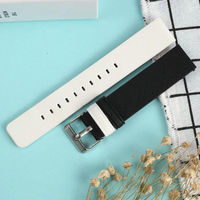 Brand New watch bracelet belt black watchbands PU leather clock strap watch band 18mm 20mm 22mm watch accessories red wristband in Watchbands from Watches