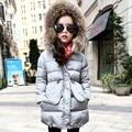 Nuevas Chicas de Moda Abrigo de Invierno Con Capucha Parka Manteau Fille Chica Chaqueta De Invierno Capa de Las Muchachas 6WJT018
