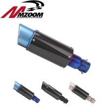 Free shipping Universal 51MM Modified Motorcycle Exhaust Muffler Scooter Drain Bevel Inlet Exhaust