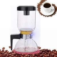 Percolators Glass Hourglass Coffee Pot Cold Drip Coffee Maker Iced Drip Coffee Pot Cold Brew Water Ice Drip Coffee Maker 2 Cups