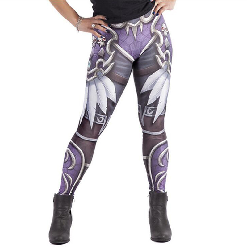 3D Print Elastic Fitness Legging Punk Women High Waist Leggings Stretch Workout Casual Slim Pencil Pants Funnysporting Leggings