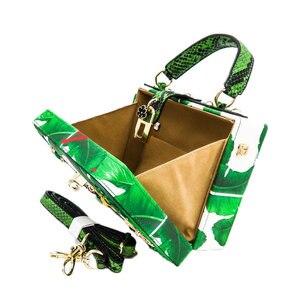 Image 4 - Двойной цветок зеленый лист банана маленькие насекомые женская сумка через плечо сумки через плечо Женская Повседневная вместительная сумка клатч