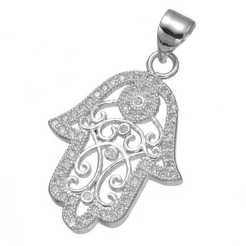 e5ee1b79df01 2017 nueva llegada hecho a mano micro Pave CZ ZIRCON HAMSA mano Amuletos  Colgantes para DIY pulseras collares joyería