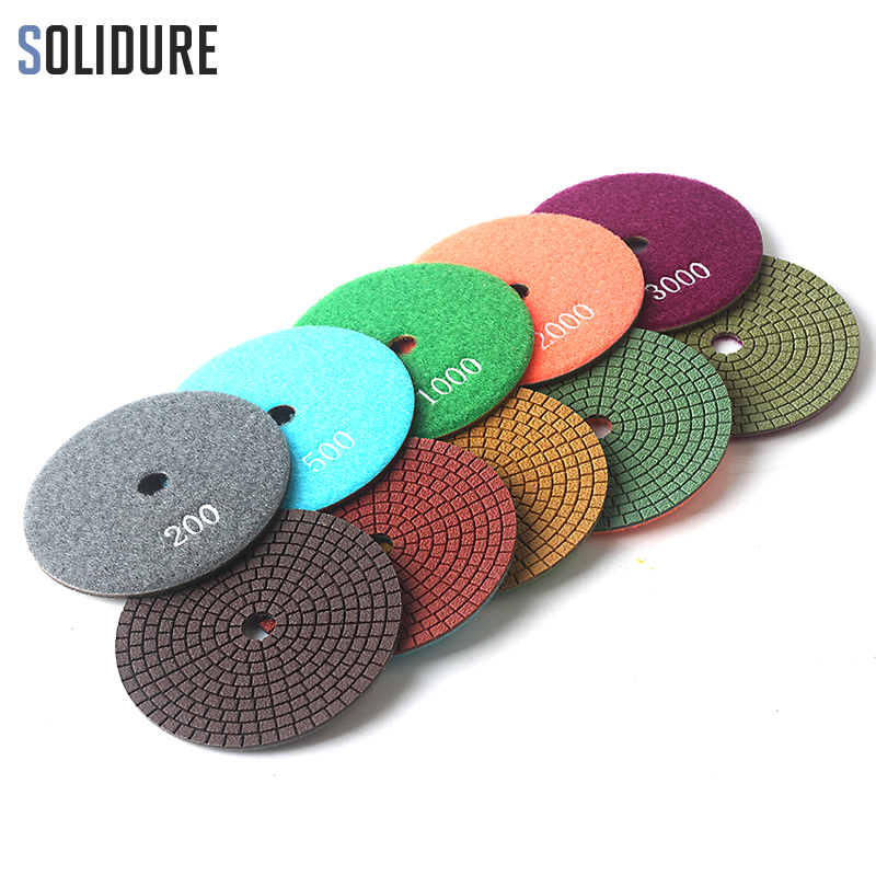 5pcs aet diamond wet polishing pad 1 5mm thickness high quality colorful grinding discs for stone