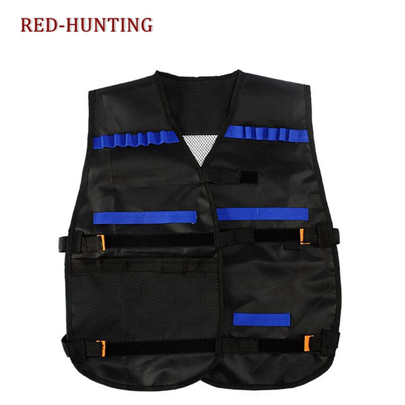 Camping & Hiking Hiking Vests 54x47cm Children Kids Black Tactical Vest Jacket Waistcoat Ammo Holder Lite Pistol Bullets Toy Clip Darts For Nerf Dropshipping