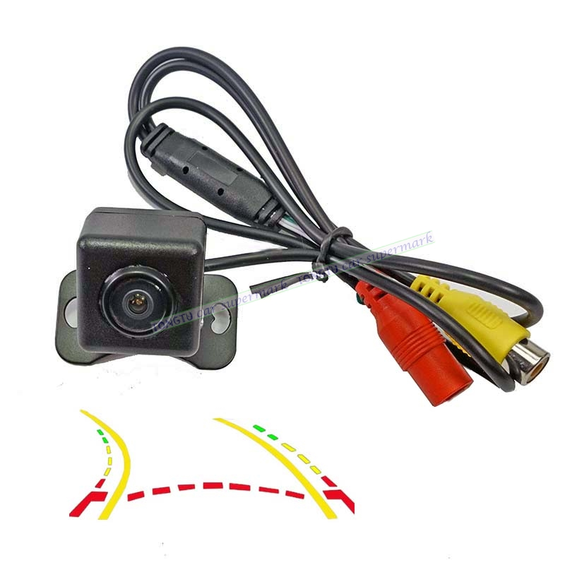 180 Degree HD Wide Angle Fisheye Lens Dynamic Trajectory Parking Line Car Rear View Reverse Camera Parking Monitor