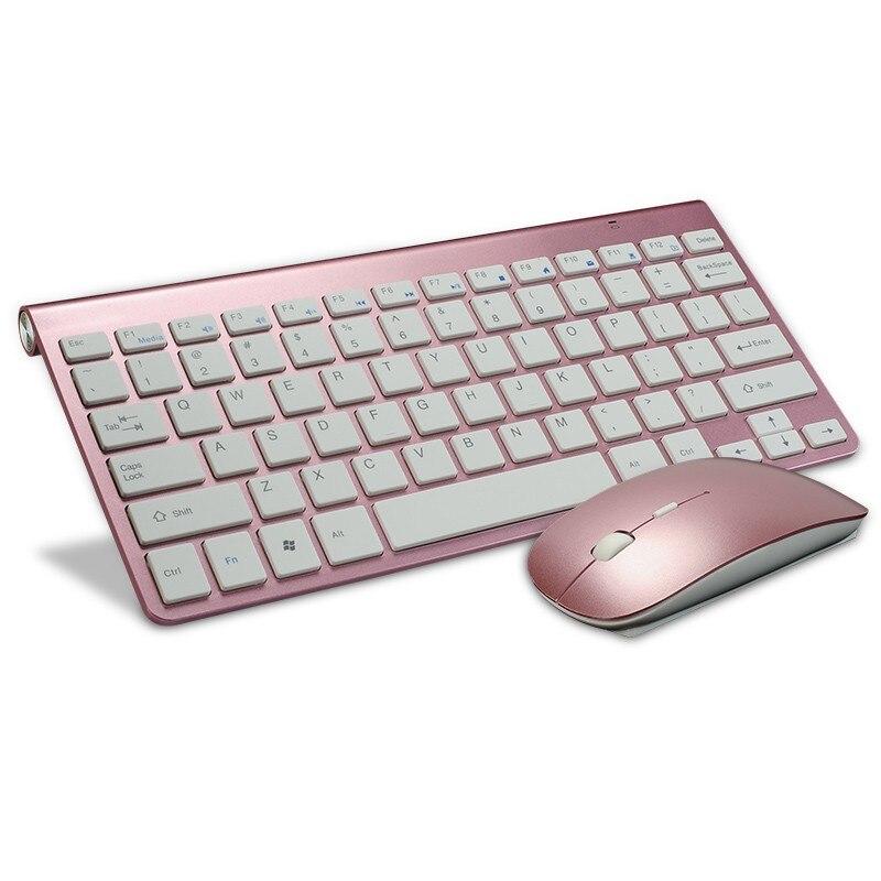 Kuwfi Ultra Thin 2.4G Wireless Keyboard Mouse Combo With
