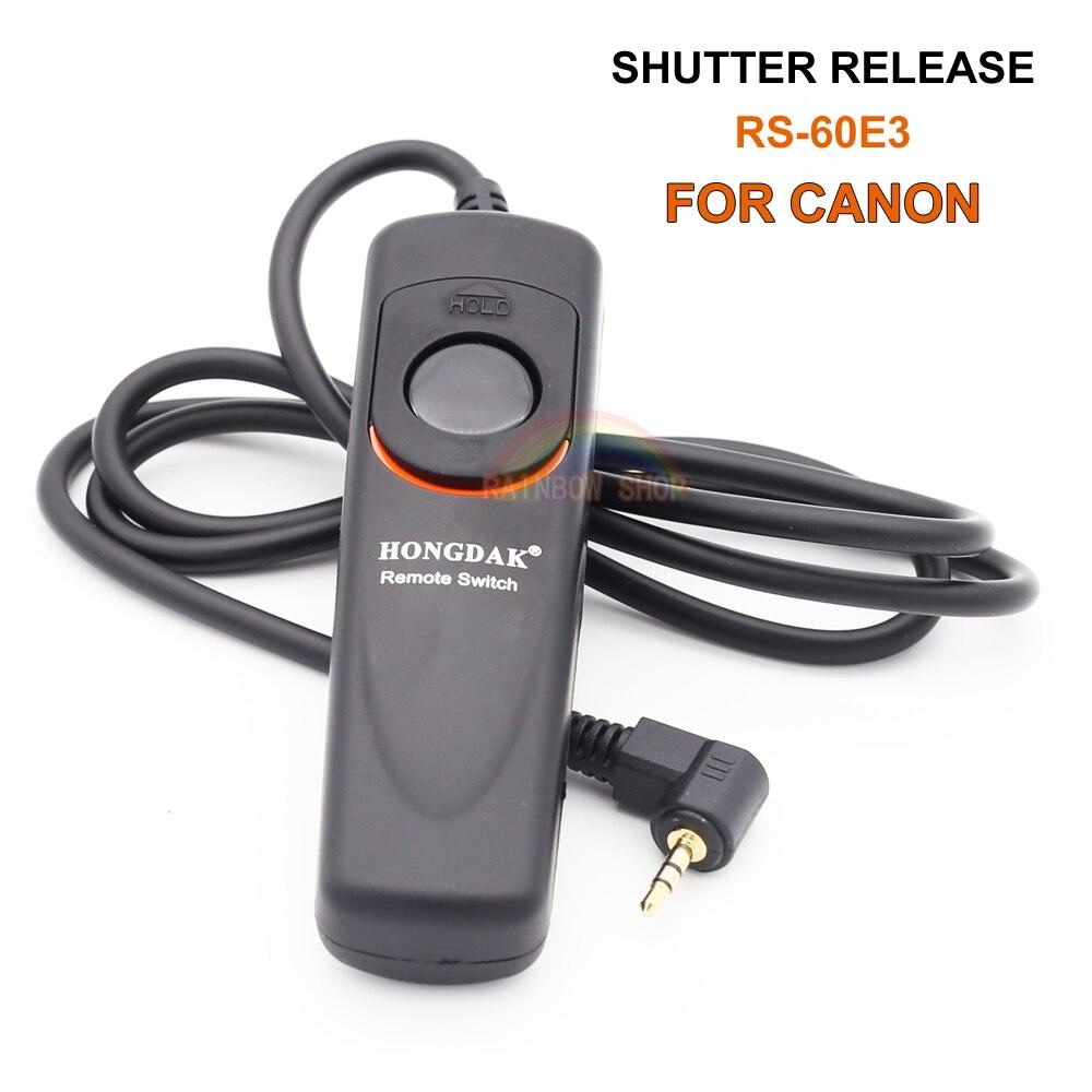 RS-60E3 Shutter Release Hongdak Remote Control Cord For Canon 500d 450d 700D 650D 550D 60D 600d G1X/G15/G12