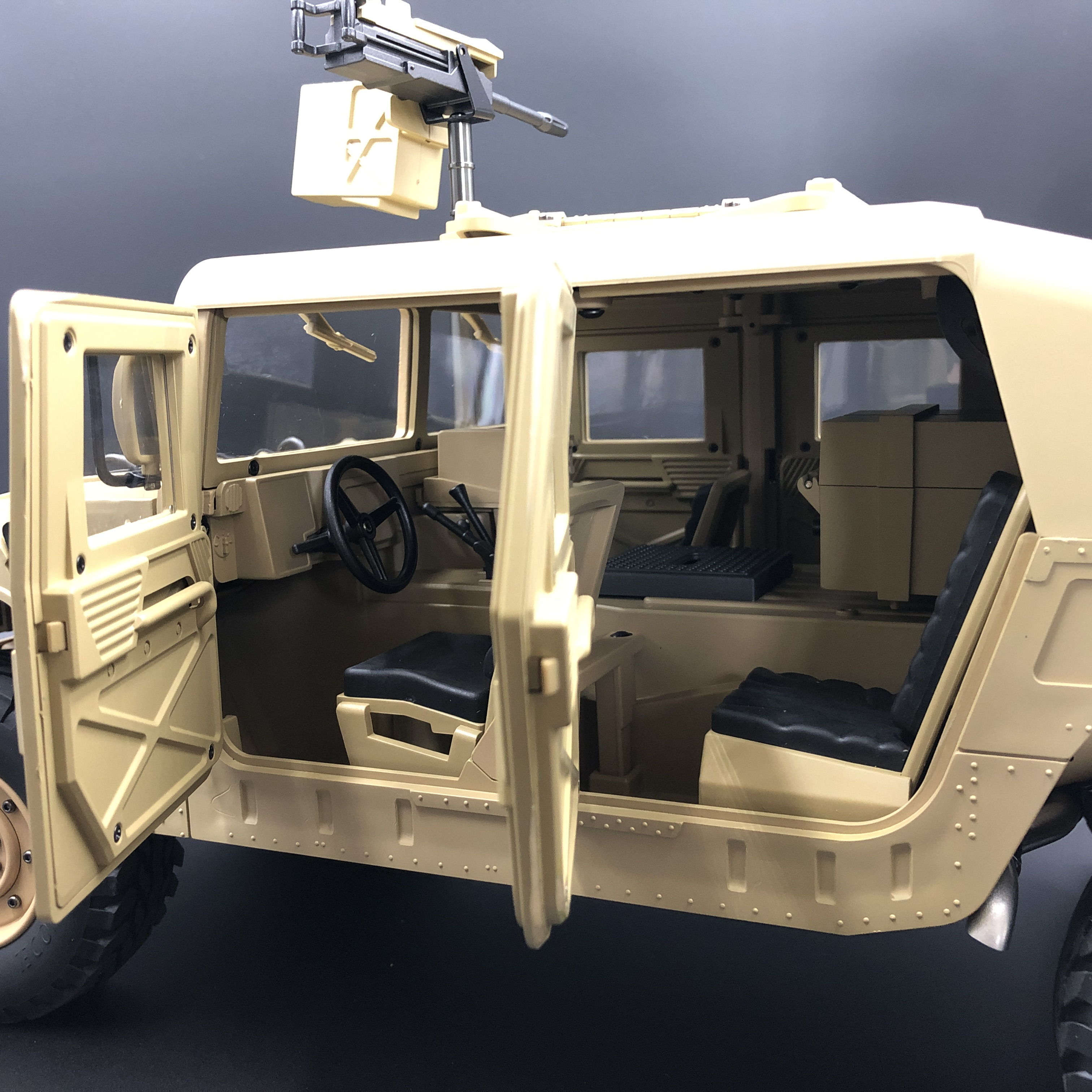 Image 5 - u.s.4X4MILITARY VEHICLE M1025 Humvee 1/10 rc Metal Chassis Off road vehicle car HG P408 Upgraded Light Sound FunctionRC Cars   -