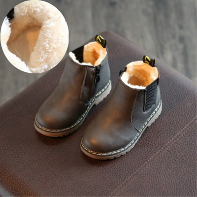 Kids Autumn winter walking shoes Children genuine leather martin shoes Boys girls snow Shoes kids Sneakers snow boots for-30C new 2015 botas infantil pu leather boys girls rubber boots for children martin boots kids snow boots sneakers hot item