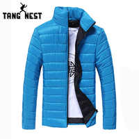 TANGNEST Men's Jacket 2018 Winter Fashion Men Parka Warm Light Weight Casual Breathable Men Coat Nine Colors MWM1882