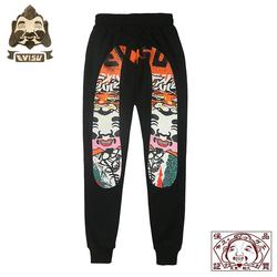 Evisu Embroidery High Quality Men's Wild Casual Pants Warm Breathable Trend Sports Pants Men's Casual Pants Black Trousers EV838