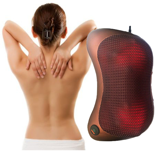 ФОТО Far Infrared Neck Massager Vibration kneading Car Magnetism therapy massager Pillow Cervical lumbar leg Muscle Relaxation