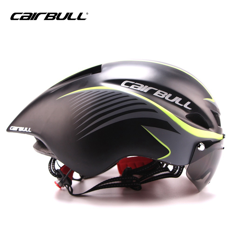 New290g Aero TT Road Bicycle Helmet Goggles Racing Cycling Bike Sports Safety TT Helmet in-mold Road Bike Cycling Goggle Helmet