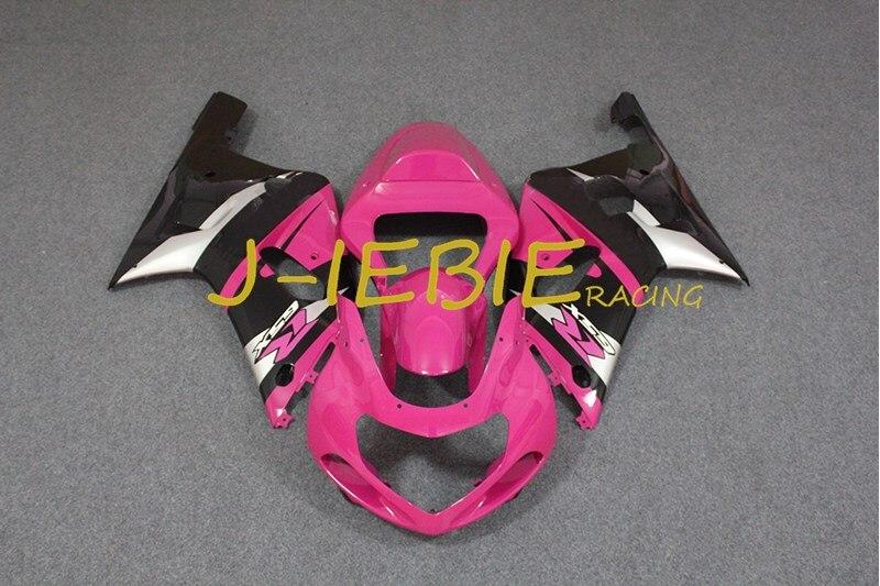 Black pink Injection Fairing Body Work Frame Kit for SUZUKI GSXR 600/750 GSXR600 GSXR750 2001 2002 2003