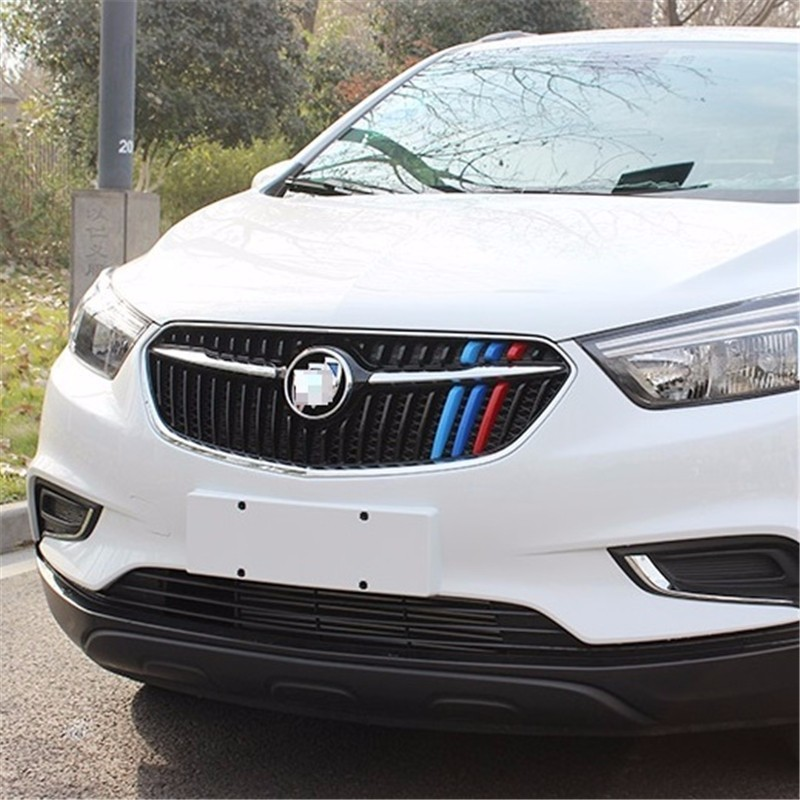 automobile car covers accessories chromium styling 2017 16 modified decorative strip three front trim FOR Buick Encore automobile car styling accessories chromium 2014 17 modified bumper grille trim strip grid decorative bright for toyota vios