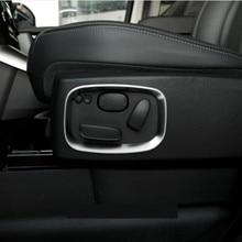 2pcs Chrome Car Side Seat Adjustment Frame Trim Sticker For Landrover Range Rover Sport RR 2010-2013 Accessories