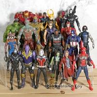 Marvel Avengers Action Figures 21pcs/set Thanos Iron Man Captain America Thor Loki Hulk Black Panther Vision Star Lord Antman