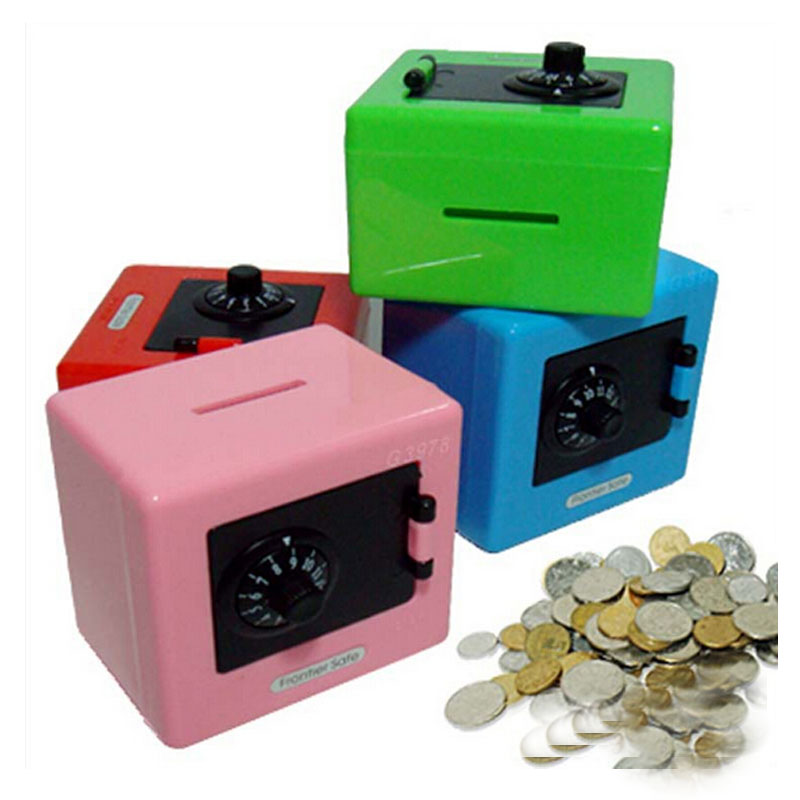 Wholesale children combination code safe lock piggy bank for Large piggy bank with lock