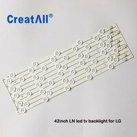 10PCS 42inch L1/R1/L2/R2 led backlight Replacement Strips for LG 42ROW 2.1 6916L 1214A 6916L 1215A 6916L 1216A 6916L 1217A