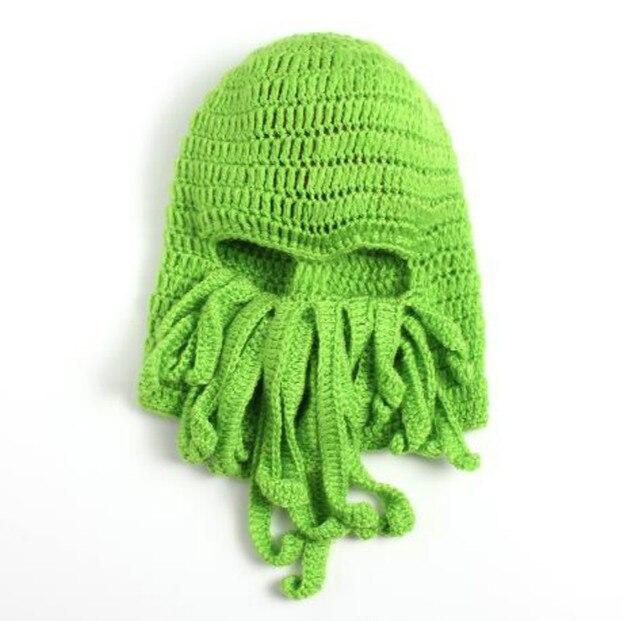 50b87e0b9dfbe Tentacle Octopus Cthulhu Knit Beanie Hat Cap Wind Ski Mask 2016 Beanies Caps