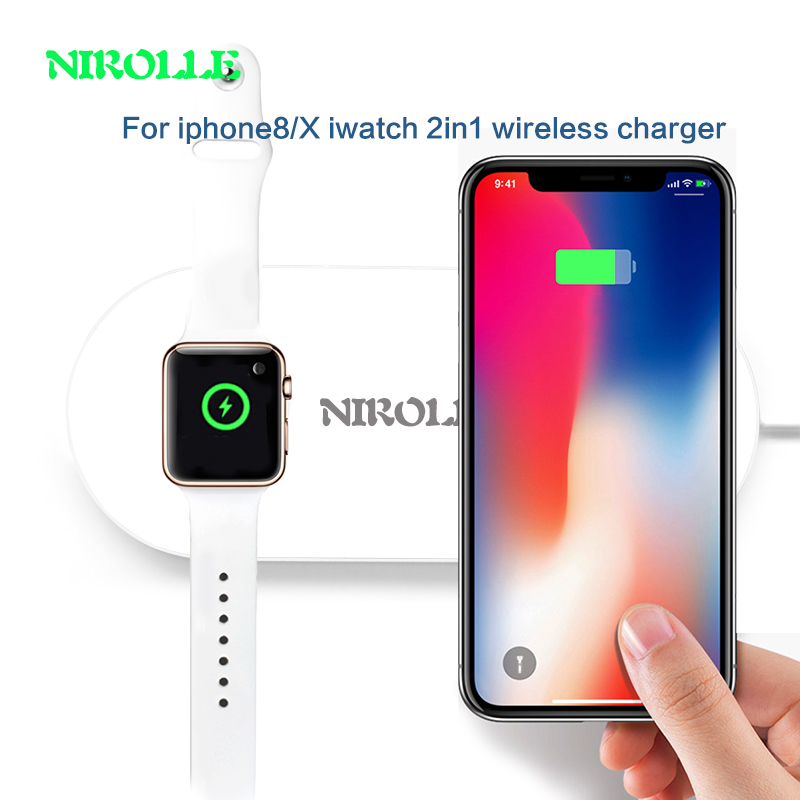 7.5W Qi Wireless Charger for iPhone 8/X iwatch2/3 Fast Wireless Charging for Samsung S8/S7 Edge Nexus5 USB Charger Pad AirPower