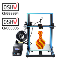CR 10 3d Printer Kit Large printer Size 300*300*400mm Cheap 3D printer with 200g Filament+Hotbed+8G SD card as gift Creality 3D