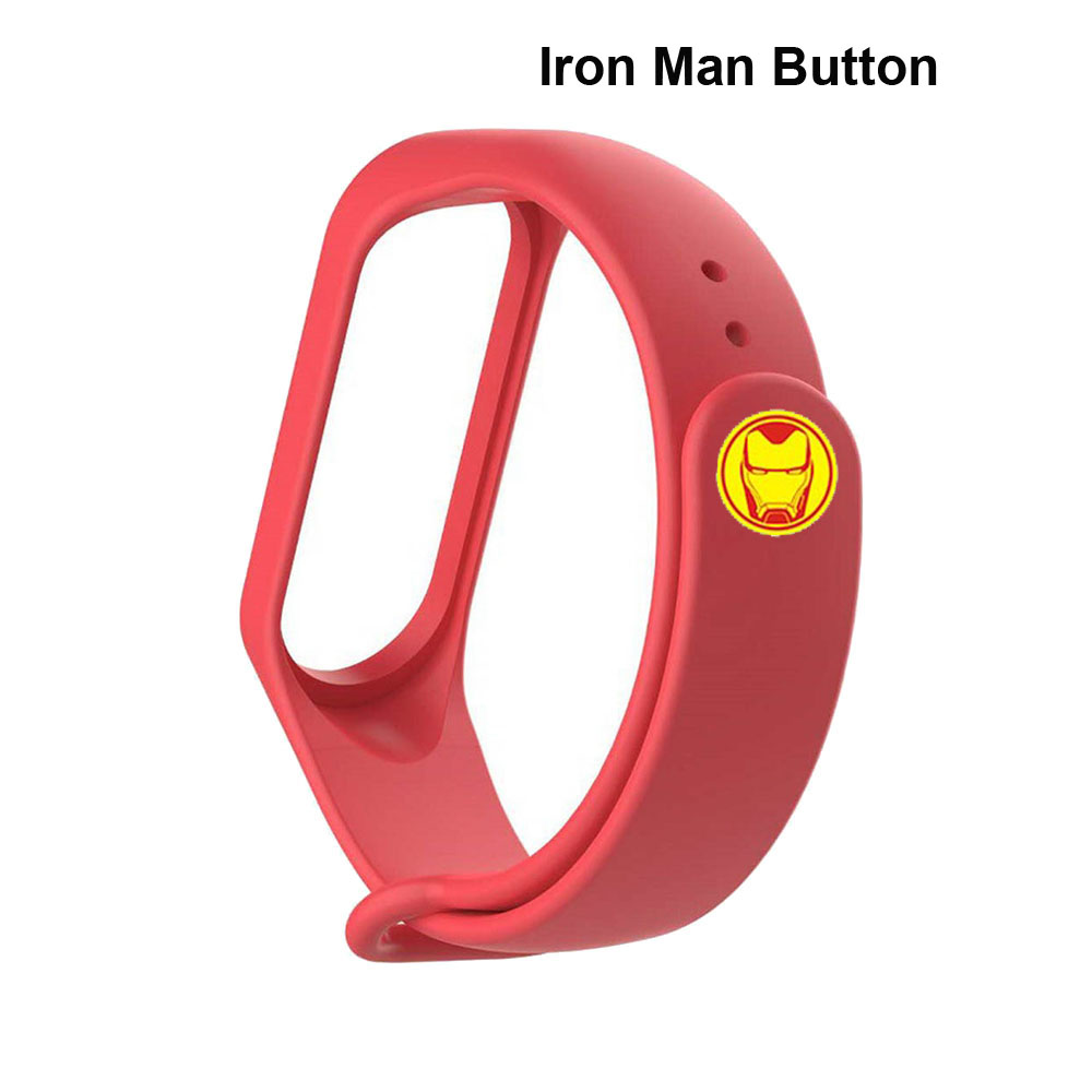 Mi Band 4 3 Bracelet Buttons Avengers Button For Xiaomi Mi Band 3 4 Smart Wristband Iron Man Button Miband 4 3 CA Buttons 9 Pcs