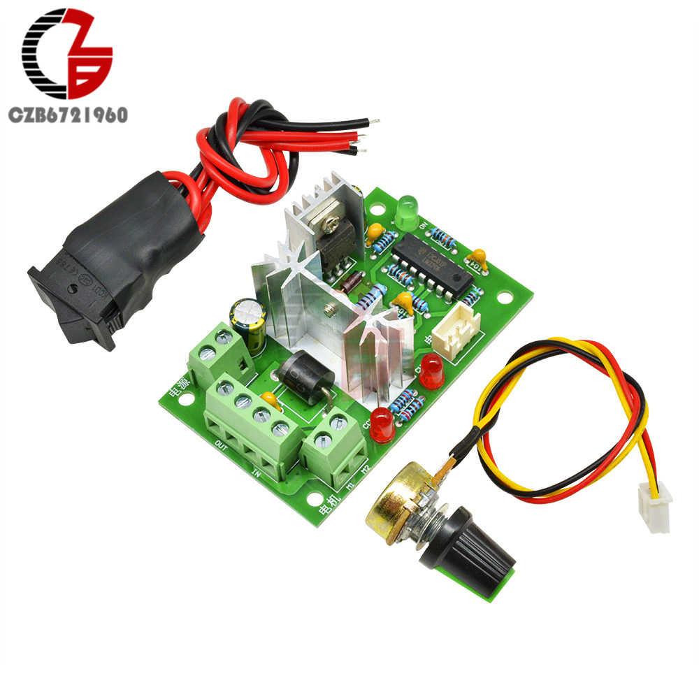 6-30 в 80 Вт 10A Реверсивный контроллер скорости двигателя постоянного тока высокий крутящий момент Регулируемый ШИМ регулятор скорости с переключателем управления потенциометра