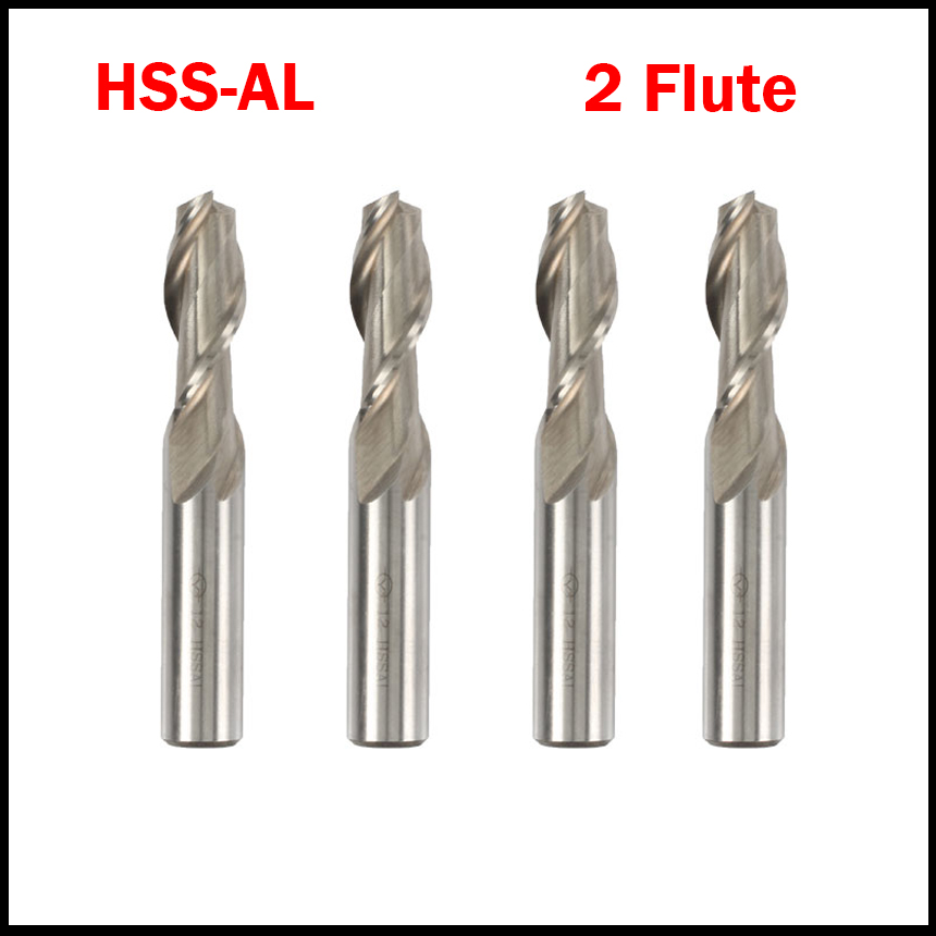3mm 3.5mm 4mm 5mm 6mm Cutting Edge Diameter HSSAL 2 Flute White Straight Shank Fully Ground Center End Mill Milling Cutter