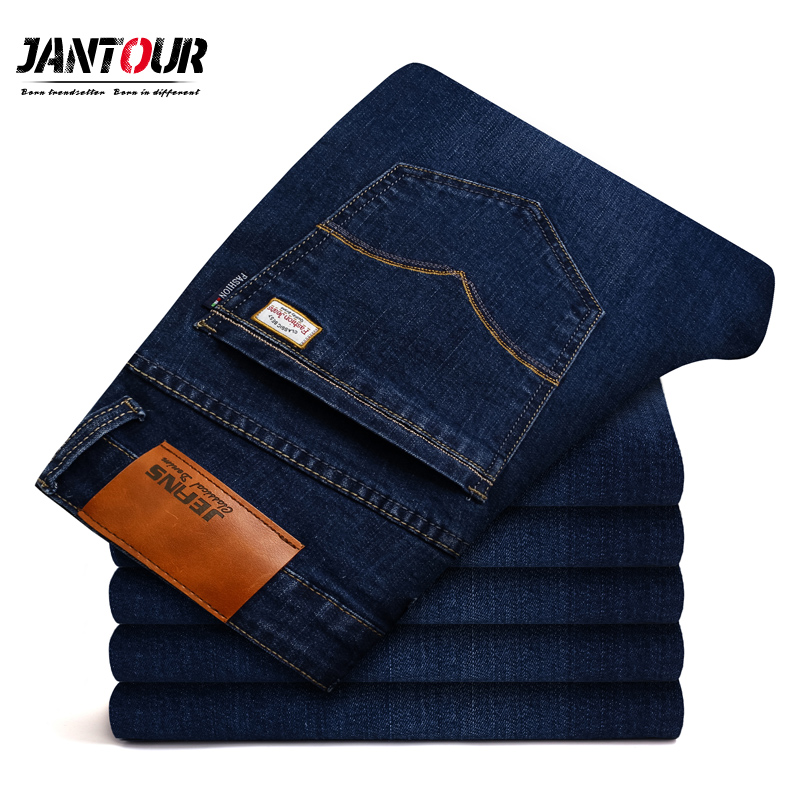 2018 new jantour Jeans Men Fashion Brand-Clothing Male blue Pants man quality Flannel Casual Trousers Jean big Size 40 42 44 46 sulee brand 2017 new men skinny jeans stretch fashion classic blue and black slim brand jeans male trousers plus size 38 40 42