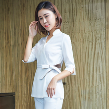 Beauty salon womens work clothes fall/winter 2018 new high-end physician