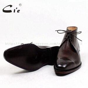 Image 5 - Cie do dedo do pé quadrado medalhão 100% genuíno couro de bezerro bota pátina marrom profundo bespoke handmade laço de couro do tornozelo dos homens de inicialização a99