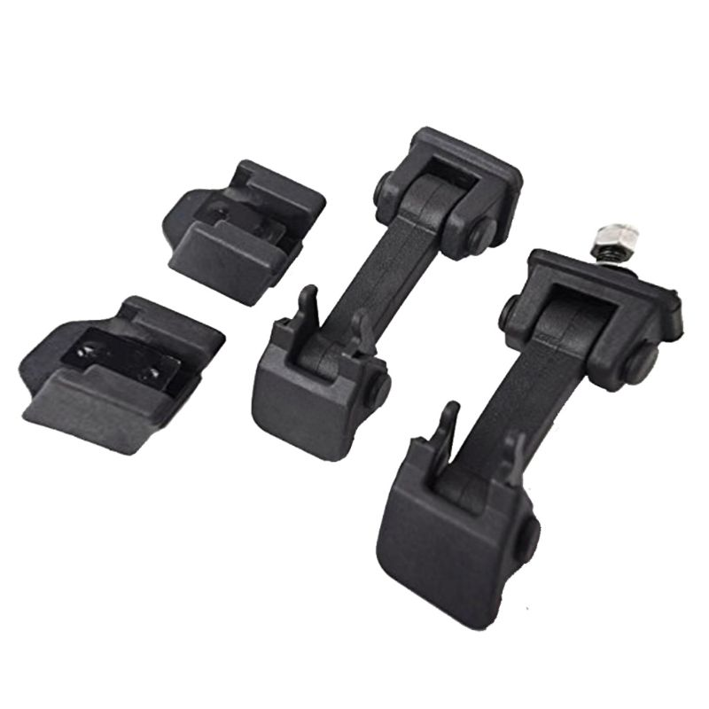 1 Pair New Car Hood Catch Lock Latches Buckle ABS Fit For Jeep Wrangler JK Unlimited Accessories Lock Protect 2007-2016