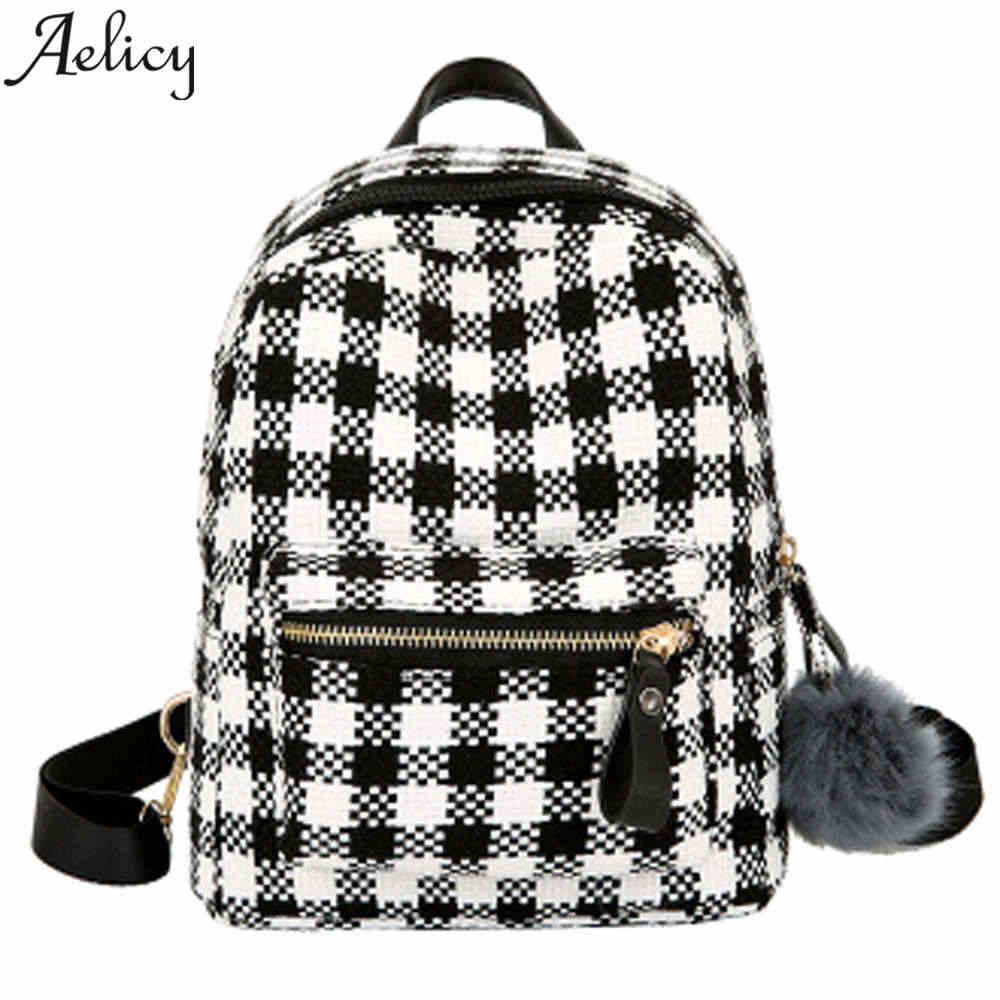 a7eaf33cb38d Aelicy мини Для женщин Путешествия Модные рюкзаки кожаный полосатый рюкзак  Для женщин Винтаж школьные сумки для