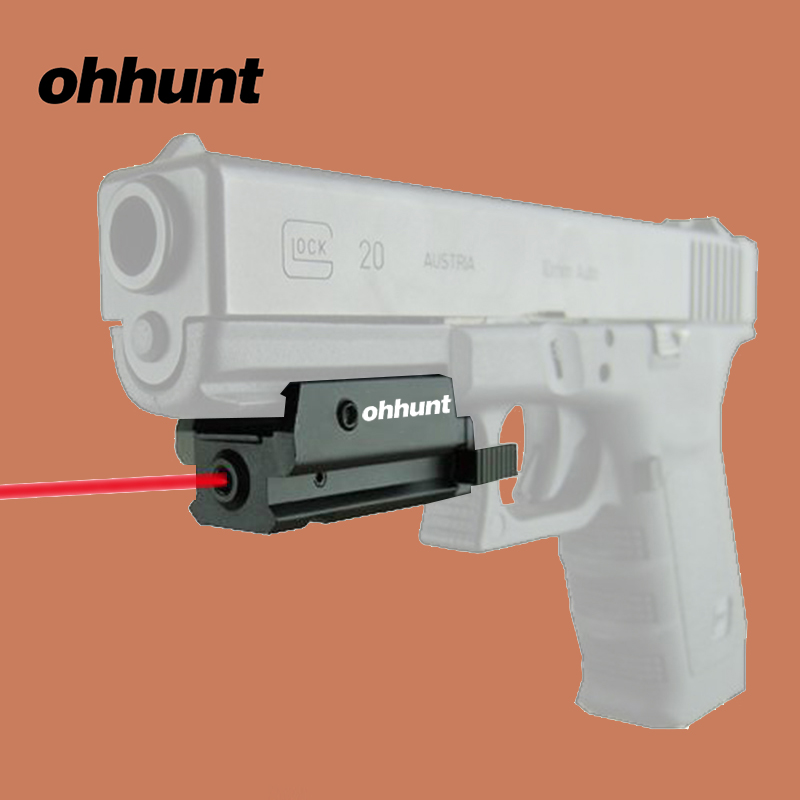 ohhunt Red Dot Low Profile Compact Red Laser Sight Weaver Picatinny Rail with Tail Switch for Hunting Optics Scope Pistol hunting compact tactical green laser sight flashlight combo low profile pistol handgun light with 20mm picatinny rail