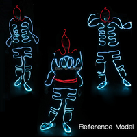 Neon Glow Light Birthday Party Lights Make Up Stylish EL Rope Tube Costume Suit Newest Lead