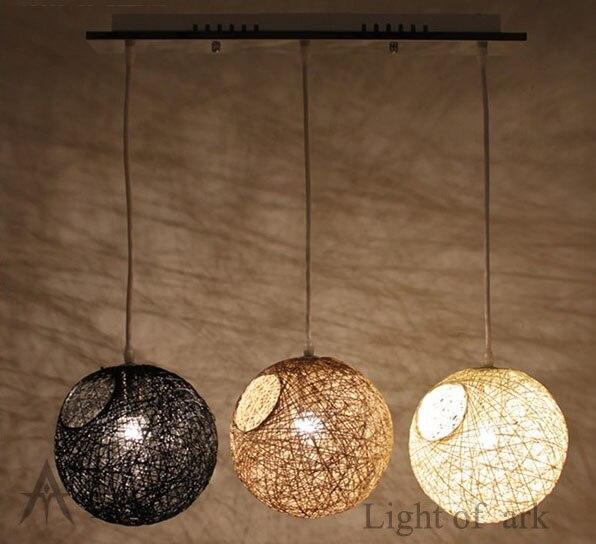 Popular rattan pendant lamp buy cheap rattan pendant lamp for Diy rustic pendant light