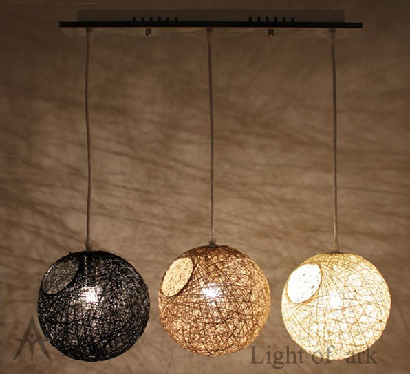 Nature Cover LED DIY E27 Living Room Lights Bedroom Lamp Fashion Rustic Personalized Rattan