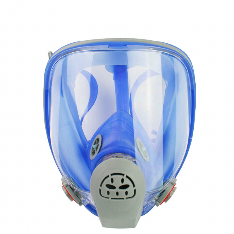 For 6800 Silicone Gas Mask Full Facepiece Respirator Painting Blue Full Face Spraying Mask Anti Dust Event & Party