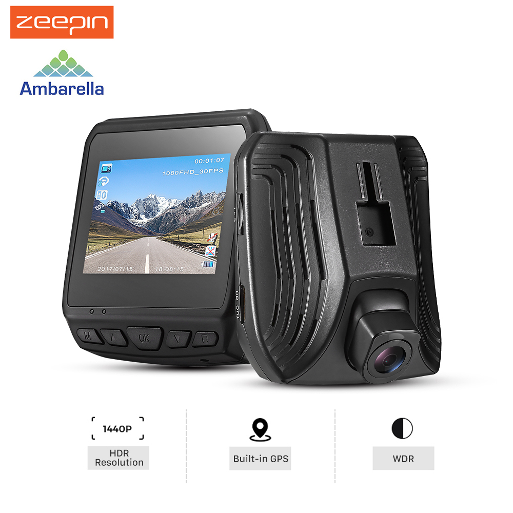 zeepin hidden car dvr camera ambarella a12 super hd 2560x1440p video recorder gps logger ips. Black Bedroom Furniture Sets. Home Design Ideas