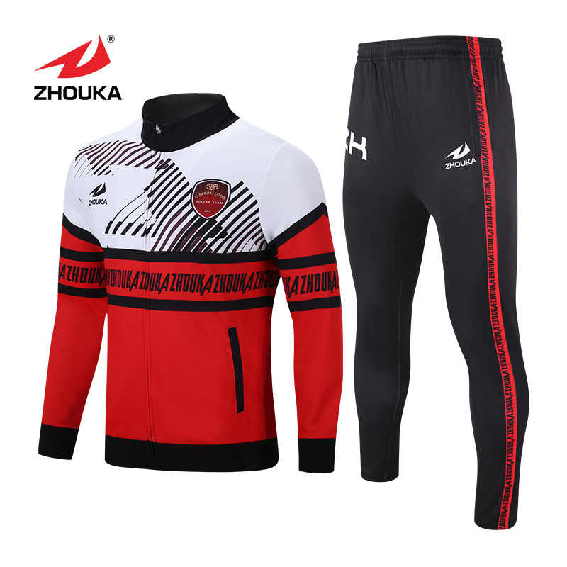 54304a26a Customized Design Your Own Tracksuit Sport Soccer Football Uniform France  100 Polyester Men Boys Soccer Jersey