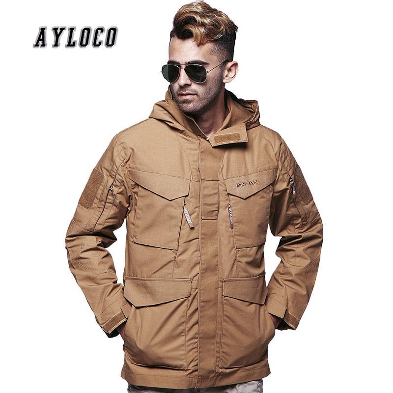 New M65 Waterproof Military Pilot Tactical Jackets Men Windbreaker Hoodie Outwear Field Jacket Male Hooded Pocket Army Coat