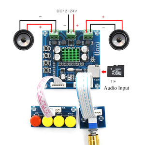 Image 2 - XH A231 TF Bluetooth Digitale Versterker 15 W + 15 W stero audio versterker Met volumeregeling DC 12 24 V
