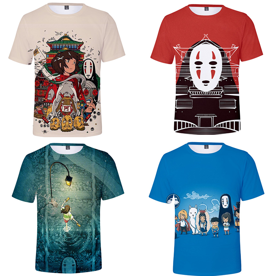 Spirited Away T Shirt Men Women Kid Tshirt Studio Ghibli Hayao Miyazaki Chihiro Japanese Anime T-shirt