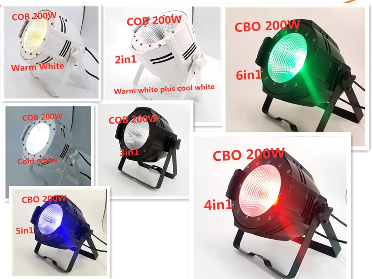 200W COB Led Par Light RGBWA UV 6in1 Warm White +  Cold white   dj light LED DMX disco Stage lighting effects|Stage Lighting Effect| |  - title=