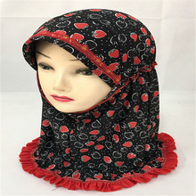 12PCS 2017 New Kids Girls Muslim Hijab Hats Islamic Arab Amira Scarf Caps Neck Cover Shawls Underscarf Headwear