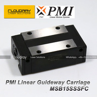 Taiwan PMI Linear Guideway Carriage Block MSB15S N for CO2 Laser Engraving Cutting Machine