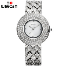 WEIQIN Dama de la moda Rhinestone Relojes relogios feminino de Las Mujeres Marca de Calidad Superior Reloj Reloj A Prueba de Agua Vestido Reloj de Pulsera